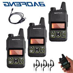 3x Baofeng T1 Mini Two Way Ham Radio FM Walkie Talkie PTT Ea