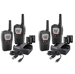 4 COBRA ACXT390 MicroTalk 23 Mile FRS/GMRS 22 Channel Walkie