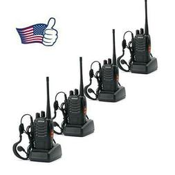 4 Pack Baofeng BF-888S 400-470MHz 5W Ham Two Way Radio FM Wa