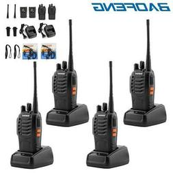 4 Pack Baofeng BF-888S Walkie Talkie 2 Two Way Radio Handhel