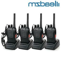 4 Pack Leazdm LE-88A Two Way Radio Walkie Talkie Set