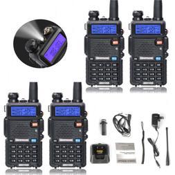 4 Pack Baofeng UV-5R Dual Band Two Way Radio Walkie Talkie w