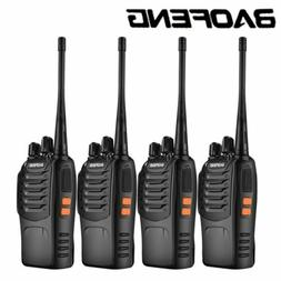 4 Pcs BaoFeng BF-888S Walkie Talkies UHF 400-470MHZ Two Way
