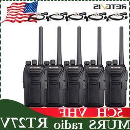 4*Retevis RT27V Walkie Talkies MURS VHF 5CH two Way Radio Po