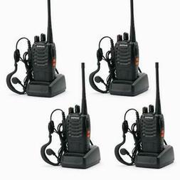 4 x BAOFENG BF-888S UHF 400-470MHz 5W 16CH Two Way Radio Wal