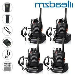 4 x Leazdm LE-88A UHF Two Way Radios Walkie Talkie Set Recha