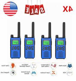 4PCs 22 Channel Walkie Talkies 462-467MHZ Two Way Radio Hand