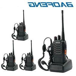 4PCS BaoFeng Walkie Talkie BF-888S UHF 400-470MHZ 2-Way Radi