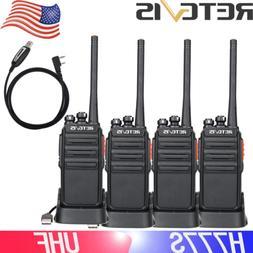 4XRetevis H777S Walkie Talkies 16CH UHF Long Range VOX TOT R