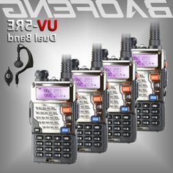 4x Baofeng UV-5RE Two Way Dual Band FM Ham Radio UHF/VHF 128