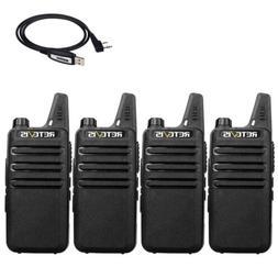 4x Walkie Talkies Retevis RT22 Two-Way Radio UHF400-480MHz+U