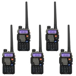 5 Pack BaoFeng UV-5R+ Plus UHF VHF Dual-Band Two Way Radio B