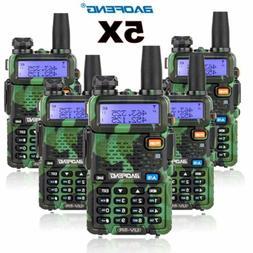 5PCS Baofeng UV-5R Walkie Talkie Headset VHF UHF Ham Portabl