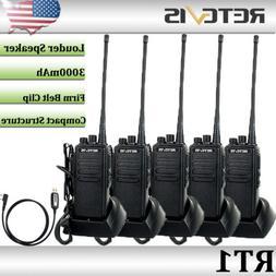 5XRetevis RT1 Walkie Talkies 10W UHF 400-520 MHz 16CH CTCSS/