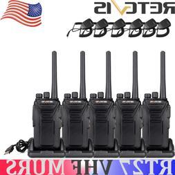 5XRetevis RT27 Walkie Talkie VHF MURS Handheld Long range Ba