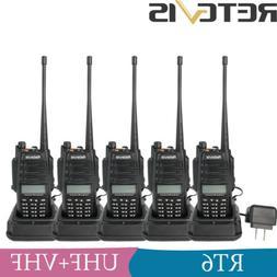 5XRetevis RT6 IP67 Waterproof UHF+VHF 128CH Emergency Alarm