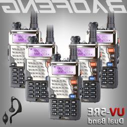 5x Baofeng UV-5RE Two Way FM Ham Radio UHF/VHF Dual Band 128