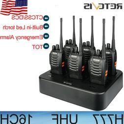 6*Retevis H777 Walkie Talkies 16CH UHF CTCSS/DCS two Way Rad