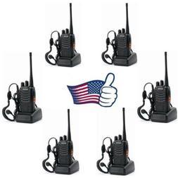 6 Pack Baofeng BF-888S Handheld UHF Two-way Ham Radio Walkie
