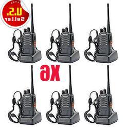 6 Pack Walkie Talkie 2 Two Way Radio Handheld Long Range Mar