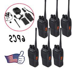 6 Pack Walkie Talkie Headset Two Way Radio 2 Long Range Secu