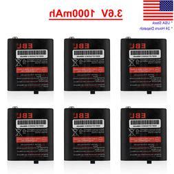 6 Pcs 1000mAh 2-Way Radios Battery 53615 For Motorola HKNN40