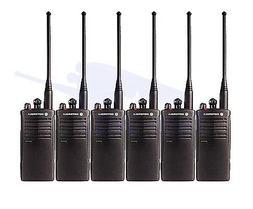 6 Motorola RDU4100 UHF Two Way Radio Walkie Talkies 10 Chann