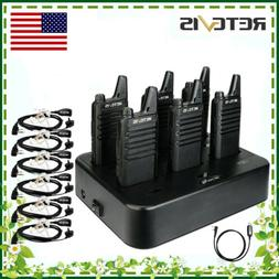 6*Retevis RT22 Walkie Talkies UHF DCS 16CH VOX Radio+1*Charg