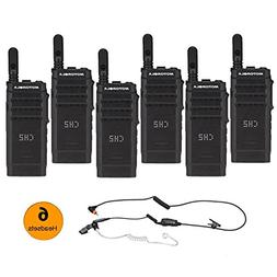 6 Motorola SL300 UHF Digital 99 Channel Display Radio & 6 PM