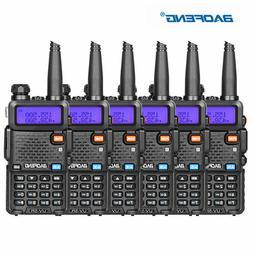 6PCS Baofeng UV-5R Walkie Talkie Headset VHF UHF Ham Portabl