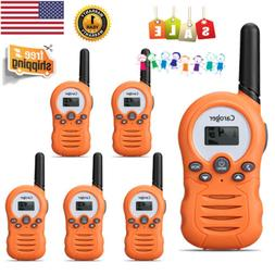 6PCS Walkie Talkies Kids Toys Handheld Portable Speaker Micr