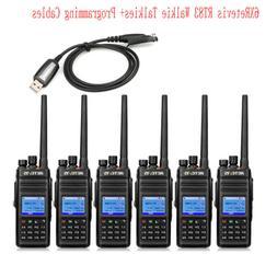 6XRetevis RT83 GPS DMR Walkie Talkies Digital TDMA Waterproo