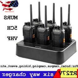 6XRetevis Walkie Talkies RT27 two Way Radio VHF MURS VOX cha