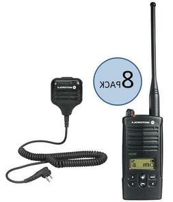 8 Motorola RDU4160D Two Way Radio Walkie Talkies with Speake