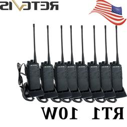 8*Retevis RT1 Walkie Talkies 10W UHF400-520MHz CTCSS/DCS 16C