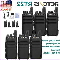 8*Two Way Radios Retevis RT22 Walkie Talkie 16CH VOX CTCSS/D