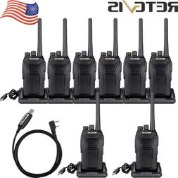 8XRetevis RT27 Walkie Talkies BCL VHF license-free Battery s