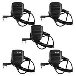 Retevis 2 Pin Shoulder Mic Speaker Mic Microphone Compatible