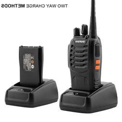 A Pair Of Upgraded 5W Handheld Walkie Talkies Black 2800mAh