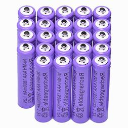 12x AAA 1800mAh 1.2 V Ni-MH rechargeable battery Purple for