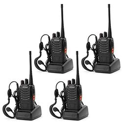 BaoFeng 4pcs BF-888S Walkie Talkie with Built in LED Torch