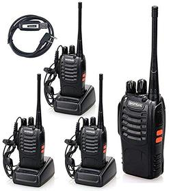 BaoFeng BF-888S Pack of 4 Handheld 5W Two Way Ham Radio Walk
