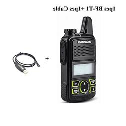 Original BAOFENG BF-T1 MINI Walkie Talkie UHF 400-470mhz Por