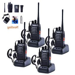 4 PCS Walkie Talkies 16CH Signal Band UHF 400-470 MHz With R
