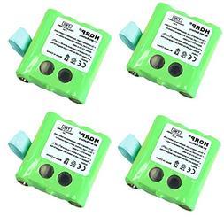 HQRP 4-Pack Battery for Motorola KEBT-072 KEBT-072-A KEBT-07