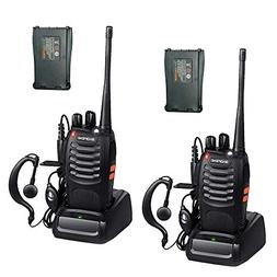 BaoFeng BF-888S 2 Way Radio with 4 1500mah Batteries and Ear