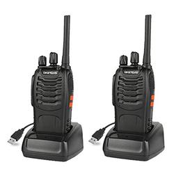 Baofeng BF-88A Walkie Talkie  Pre-Programmed FRS Two Way Rad