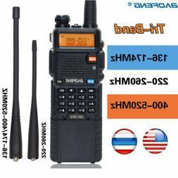BaoFeng BF-R3 Tri-Band 3800mAh 2x Antenna Long Range Two Way