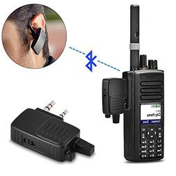 Bluetooth Adapter for Walkie Talkie, 2 Pin K Plug Two-way Ra