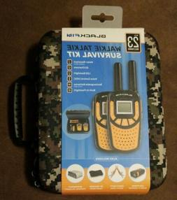 BRAND NEW WALKIE TALKIE SURVIVAL KIT WITH CAMO CARRYING CASE